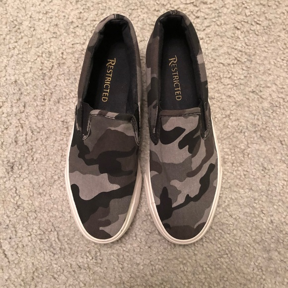 Restricted Shoes   Slip On Camo
